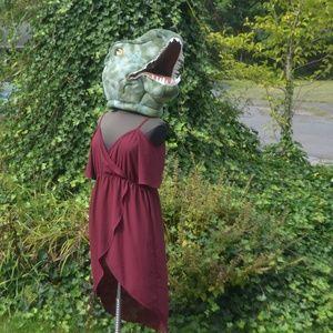 Torrid 3X High-Low Cold Shoulder Faux Wrap Dress